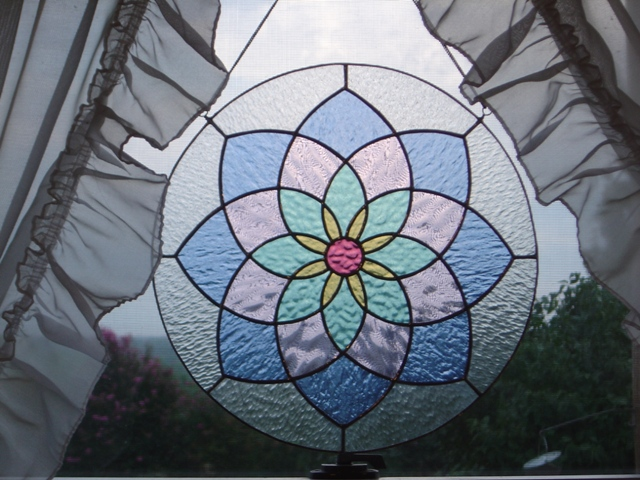 This is one example of Amy's stained glass abilities--her personal favorite.
