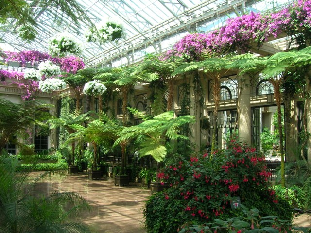 This conservatory is the most spectacular part of Longwood Gardens in Pennsylvania.